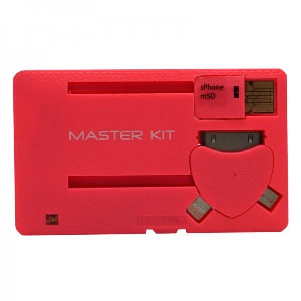 Портативное зарядное устройство Power-флешка 8 Гб (черный), Розовый фото