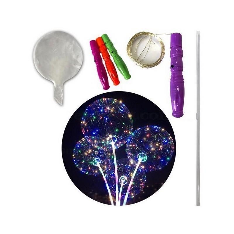 Светящийся воздушный шар на палочке и с Led-гирляндой фото