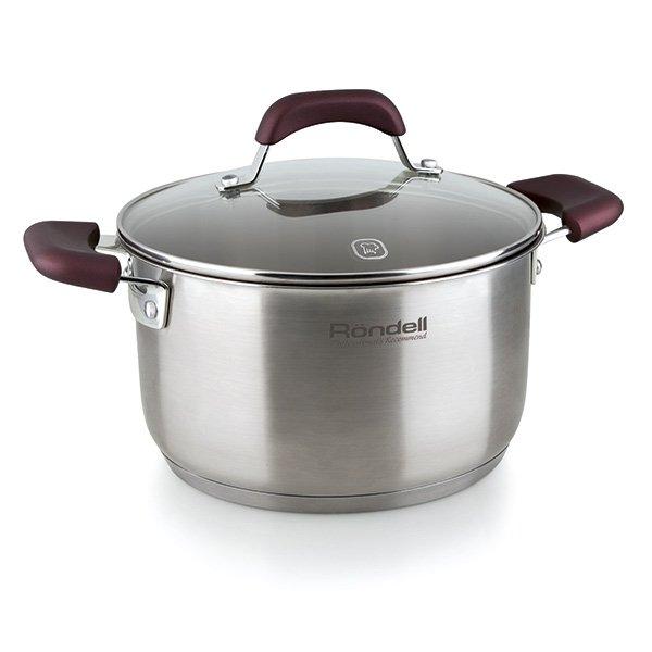 Кастрюля с кр. 20см 3,3 л Bojole Rondell 736-RDSКастрюли<br>Rondell RDS-736 – удобная кастрюля из серии Bojole. Её диаметр составляет 20 см, объём – 3,3 литра, такие кастрюли широко востребованы на современной кухне.<br>