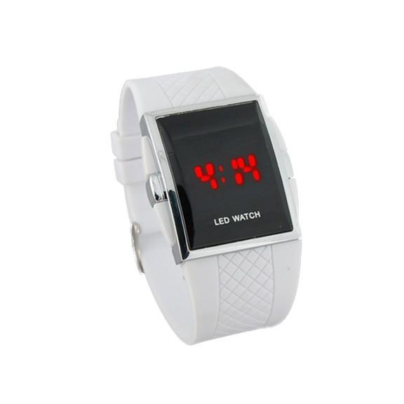 Светодиодные часы - белыеСпортивные LED часы<br>Оригинальный дизайн часов с LED-подсветкой буквально сводят покупателей с ума! Конечно, классические часы – это хорошо, но посмотрите на белые светодиодные часы. Тренд, стиль, супер четкость дисплея – крутейший подарок для друга и уникальное дополнение к вашему образу.<br>