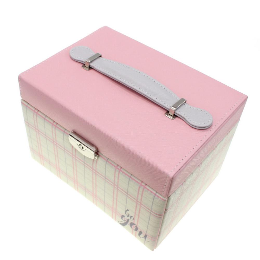 Шкатулка для ювелирных изделий Сундучок Be You, 20х15х14 см, розовый фото