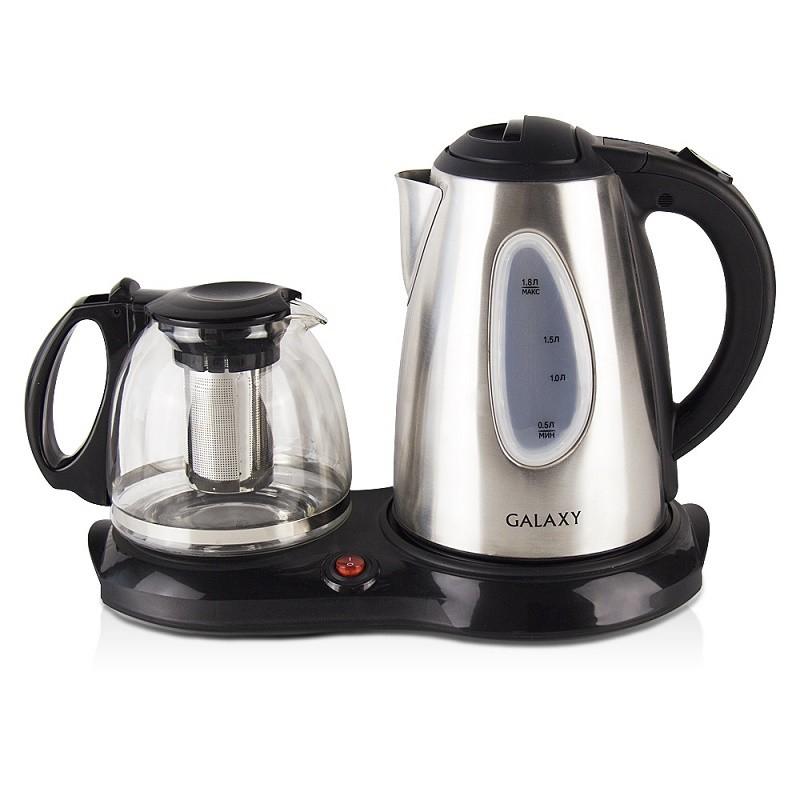 Набор для приготовления чая Galaxy GL 0403, суммарная мощность 2220 Вт, чайник 1,8л, стекл зав