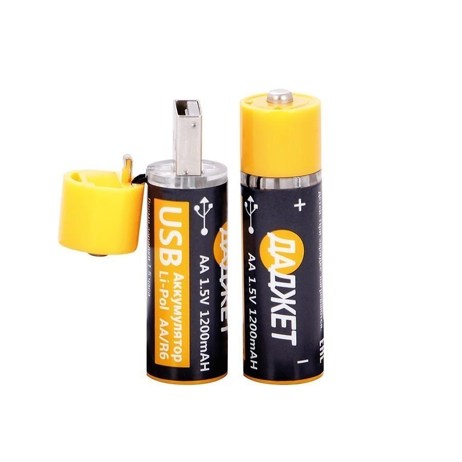 Аккумуляторы АА USB-батарейки, 2 шт.