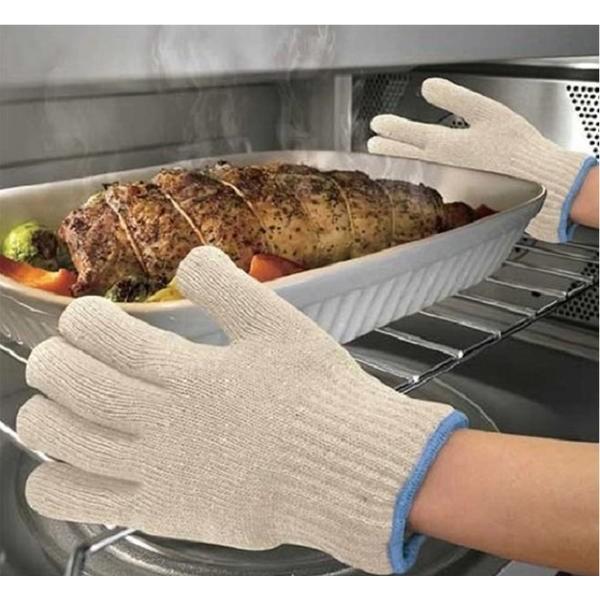Термостойкие перчатки Tuff Glove Hot Surface ProtectorПрихватки<br>Часто готовите блюда в духовке? Тогда вы знаете, как бывает непросто вытащить горячий противень. Полотенце далеко не всегда выдерживает высокую температуру, в результате чего вы получаете серьезный ожог, а легким движением руки можно просто уронить огромное блюдо, тем самым перечеркнув все свои старания. Спешите познакомиться с термостойкими перчатками Tuff Glove Hot Surface Protector, которые избавят вас от подобных проблем!<br>