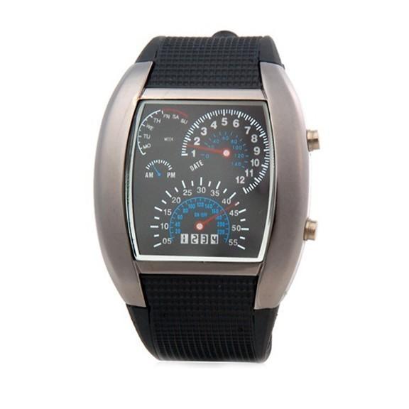 Часы Спидометр - популярные LED часыСпортивные LED часы<br>Что подарить любителю скорости? Если вас терзает этот вопрос, то обязательно обратите внимание на инновационные часы спидометр в интернет магазине Мелеон!<br>