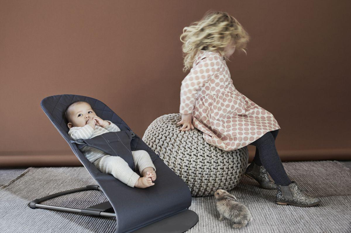 Купить Кресло-шезлонг для новорожденных, серый, Товары для новорожденных