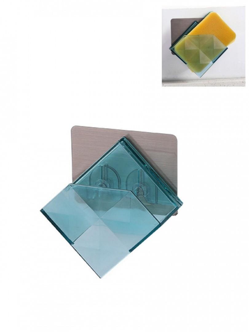 Держатель для губки настенный (голубой)