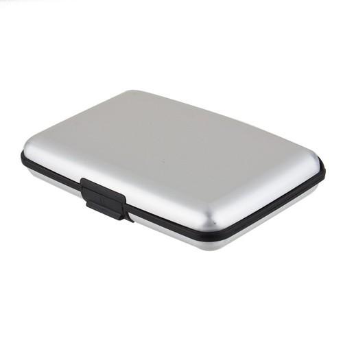 Алюминиевый кошелек для пластиковых карт Aluma WalletФутляры для банковских карт<br>Надежный органайзер из алюминия для хранения пластиковых карт. Водонепроницаемый, с удобными отсеками в форме раскладной книжки.<br>