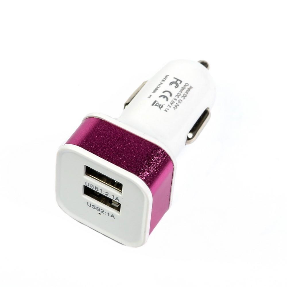 Автомобильное зарядное устройство Torso, 2 USB 1,0 А и 2,1 А, цвет микс