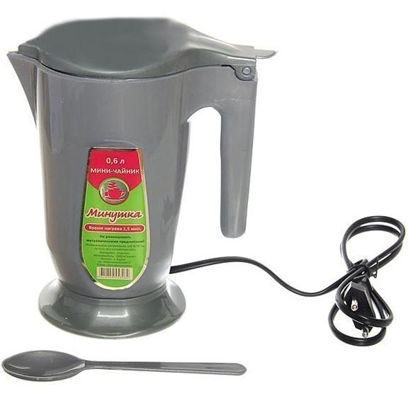 Мини чайник электрический на 0,5 л — цвет микс