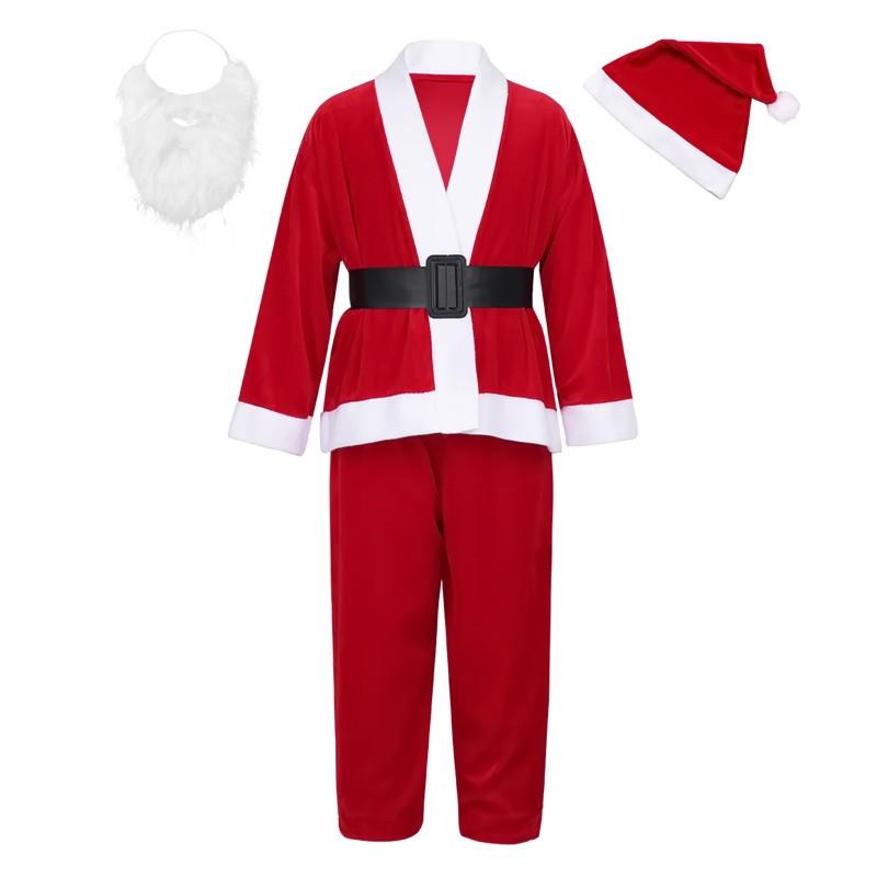 Детский костюм Санта Клауса для мальчиков, 10-13 лет фото