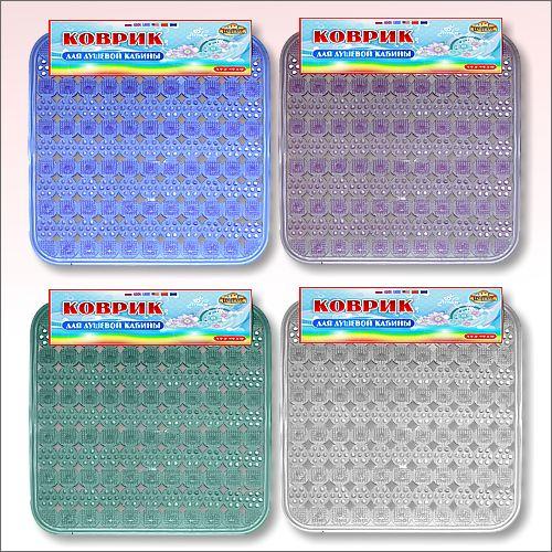 Коврик для душа массажный,  45х45 см, цвет миксОстальное<br>Массажный коврик для душа станет настоящей находкой для вашей ванной комнаты. Аксессуар защитит вас от падения из-за мокрой поверхности и от холода, исходящего от эмалированной поверхности.<br>