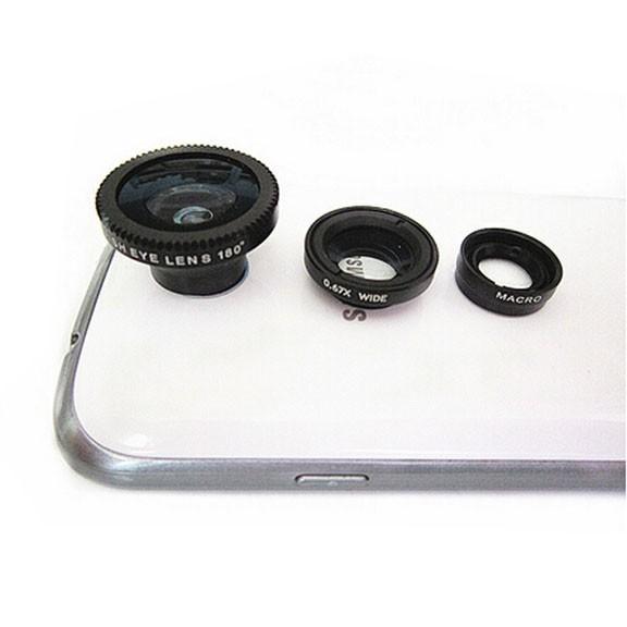 Набор объективов для камеры смартфона, 3 шт