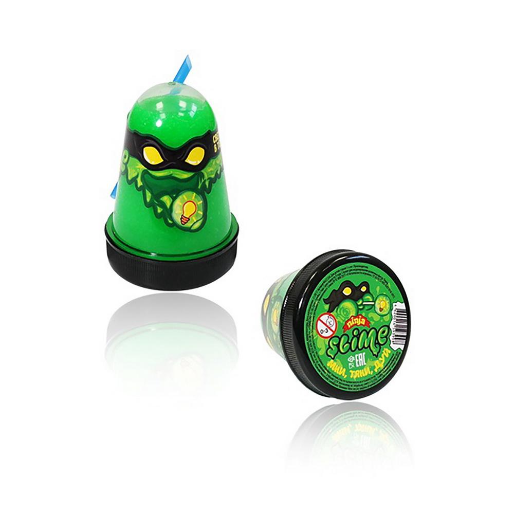 Купить Лизун Slime Ninja, светится в темноте, 130 г, зелёный, Игрушки Антистресс