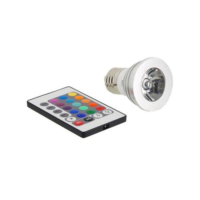 Лампа светодиодная с пультом дистанционного управленияУмные лампочки<br>Светодиодная лампа с дистанционным управлением разукрасит интерьер в разноцветные краски. 12 оттенков света и низкая потребляемость энергии порадуют всех домашних!<br>