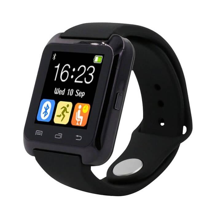 Умные часы Smart Watch U80 - черныеУмные Smart часы<br>Максимальная функциональность по минимальной цене! Китайский производитель сумел вложить все функции телефона в миниатюрные часы. И даже снабдил камерой, датчиками сна, приема воды, музыкальным и видео проигрывателем, синхронизацией со смартфоном, контактами, Facebook, VK и многое другое!<br>
