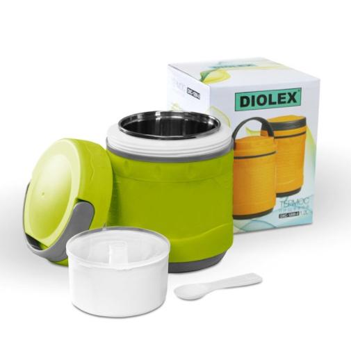 Термос-контейнер Diolex 1200 мл для пищи, зеленый