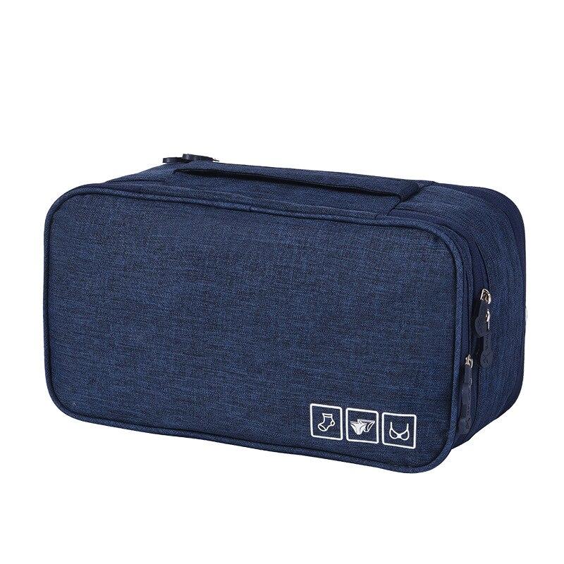 Дорожный органайзер для нижнего белья Travel Underwear Pouch, синий