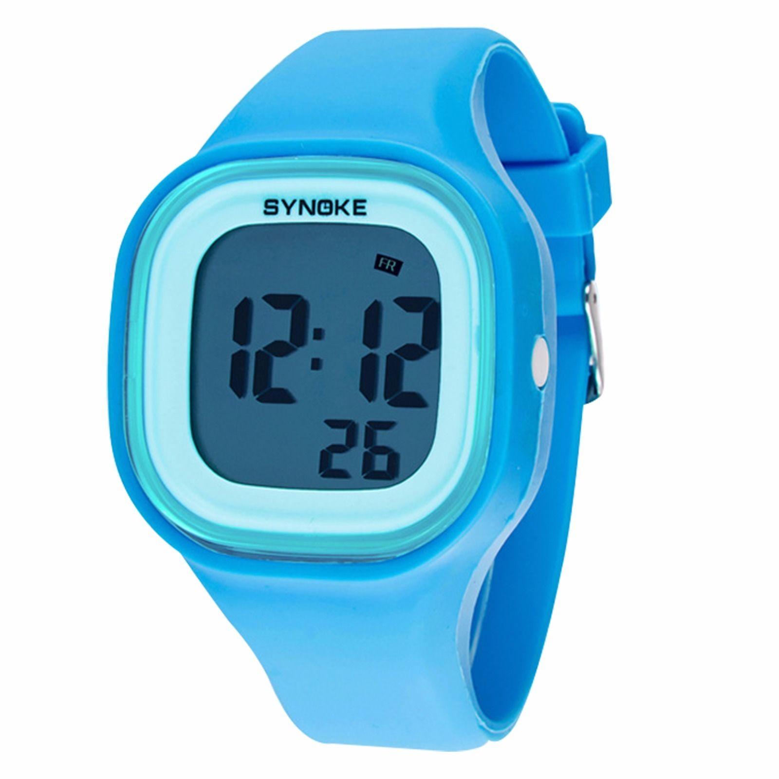 Силиконовые LED часы SHORS SH-689 голубыеСпортивные LED часы<br>Электронные LED часы поддерживают функцию отображения даты и недели. Водонепроницаемость  30м. Подходят, как для женщин, так и для мужчин<br>