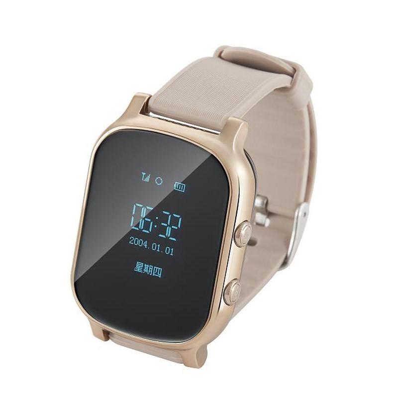 Детские часы с GPS - Smart Baby Watch T58, цвет золотоУмные Smart часы<br>По-настоящему солидные и стильные часы с GPS-трекером для подростков и молодежи. Лаконичный дизайн, оформление в стиле iWatch. Даже самый непослушный подросток с удовольствием наденет Smart Watch T58! А тем временем вы узнаете, чем живет ваш отпрыск…<br>