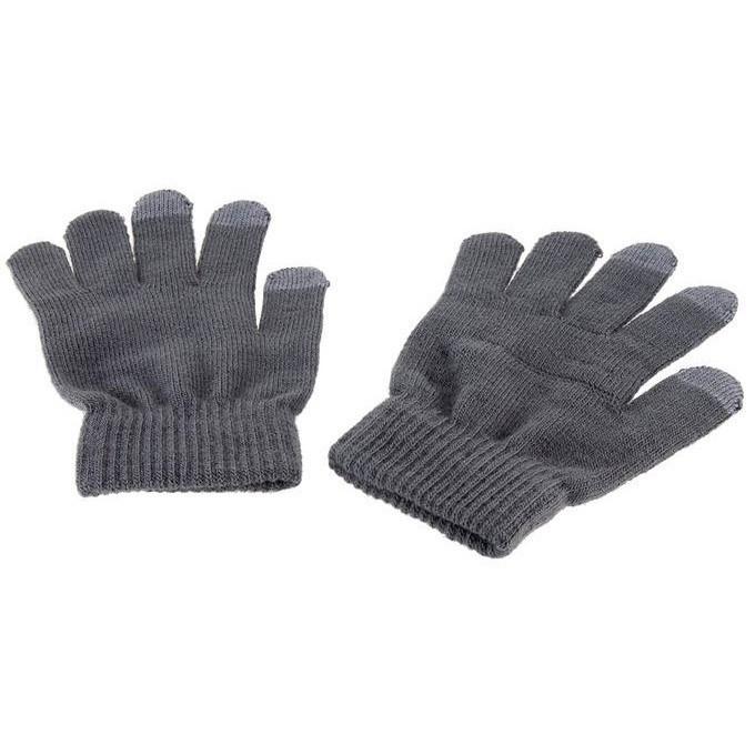 Перчатки для работы с емкостными экранами - цвет серый