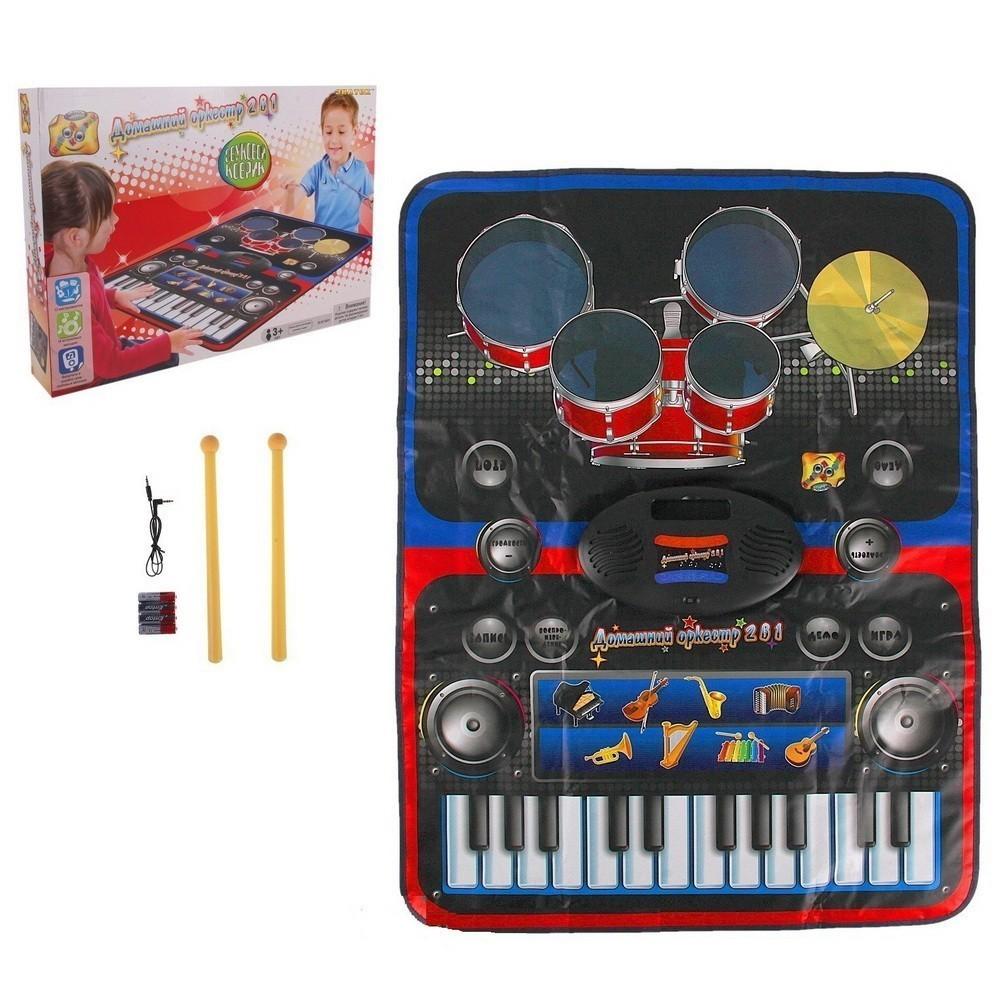 Купить Музыкальный коврик 2 в 1 Musical Drum Kit Playmat, Электронные игрушки