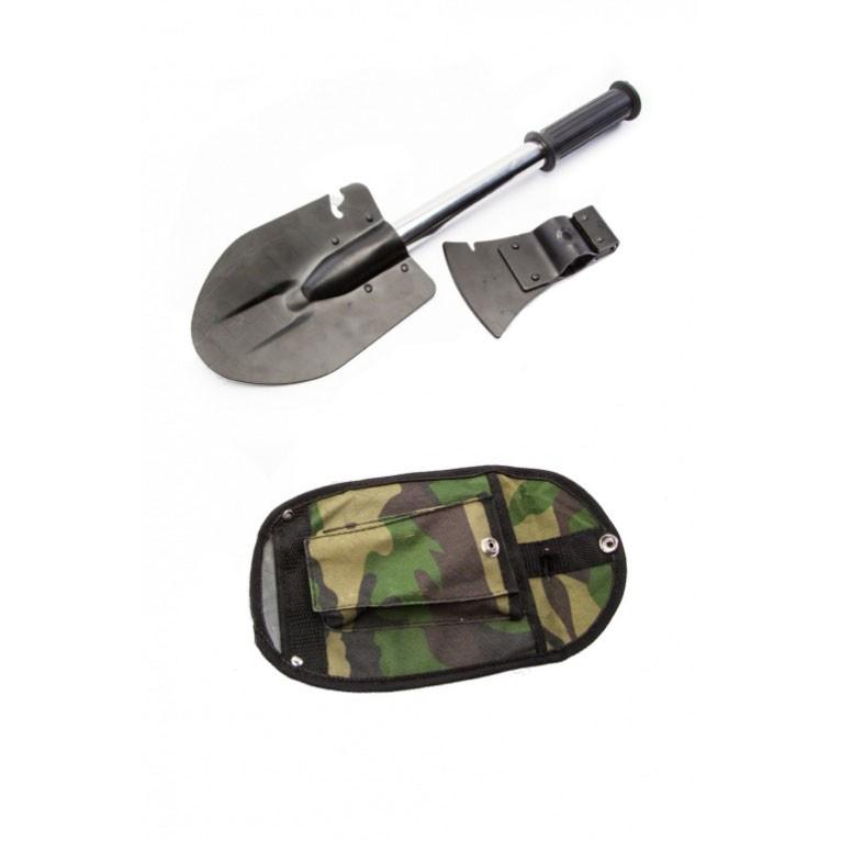 Туристу - лопата, топор и нoж - 3 в 1Разное для туриста<br>Набор «Туристу – лопата, топор и нож», 3 в 1, - комплект, который поможет выбраться из самых разных жизненных ситуаций, поскольку хранит в своем арсенале ряд нужных приспособлений, способных заменить важные инструменты для мужчин. А благодаря практичному чехлу камуфляжной расцветки, носить с собой этот комплект вам будет удобно всегда!<br>