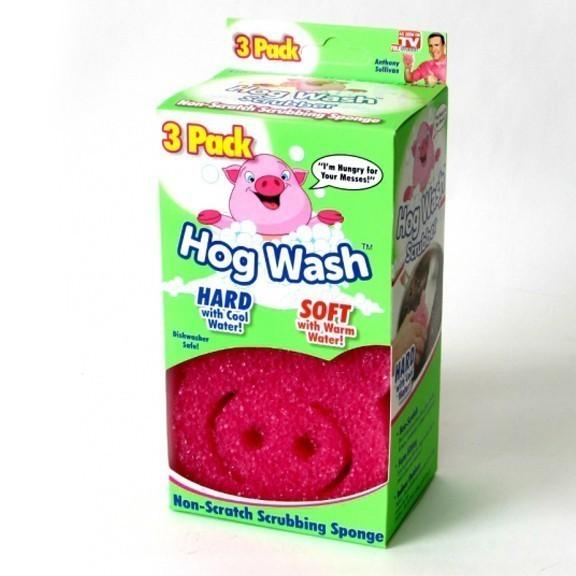 Чудо губка-скраб Пятачок - Hog Wash Scrubber, 3 шт.Остальное для уборки<br>Чистоту и уют в доме теперь можно обеспечить с весельем! Чудо губка-скраб Пятачок будет поднимать Вам настроение при уборке, а главное - легко справляться с любыми загрязнениями!<br>