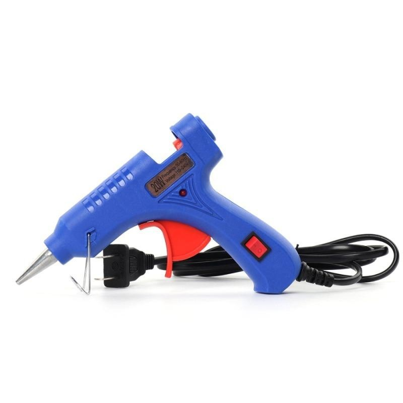 Термоклеевой пистолет с выключателем на рукоятке, 100 W