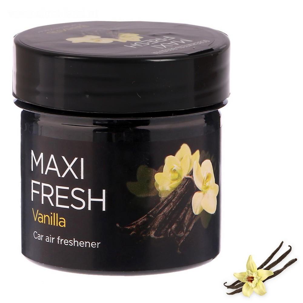 Ароматизатор Maxi Fresh, ванильОстальное<br>Много времени проводите в салоне автомобиля? Интернет магазин Мелеон знает, что нужно сделать, чтобы воздух внутри всегда оставался свежим и приятным. Ароматизатор в банке «MAXI FRESH»!<br>