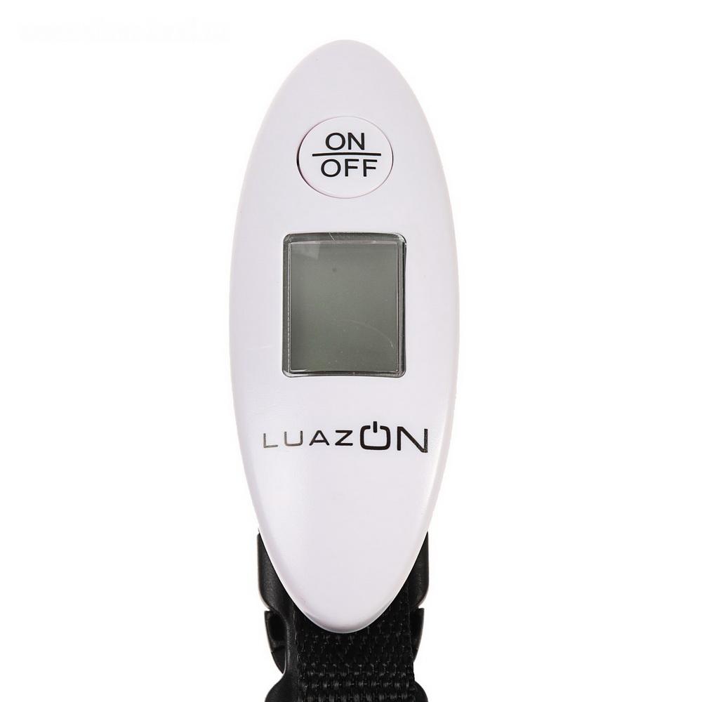 Весы багажные LuazON LV-404, до 40 кг, белые