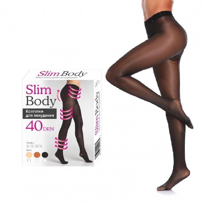 Колготки для похудения Slim Body с 3D эффектом 40 Den Черные, размер 5 фото