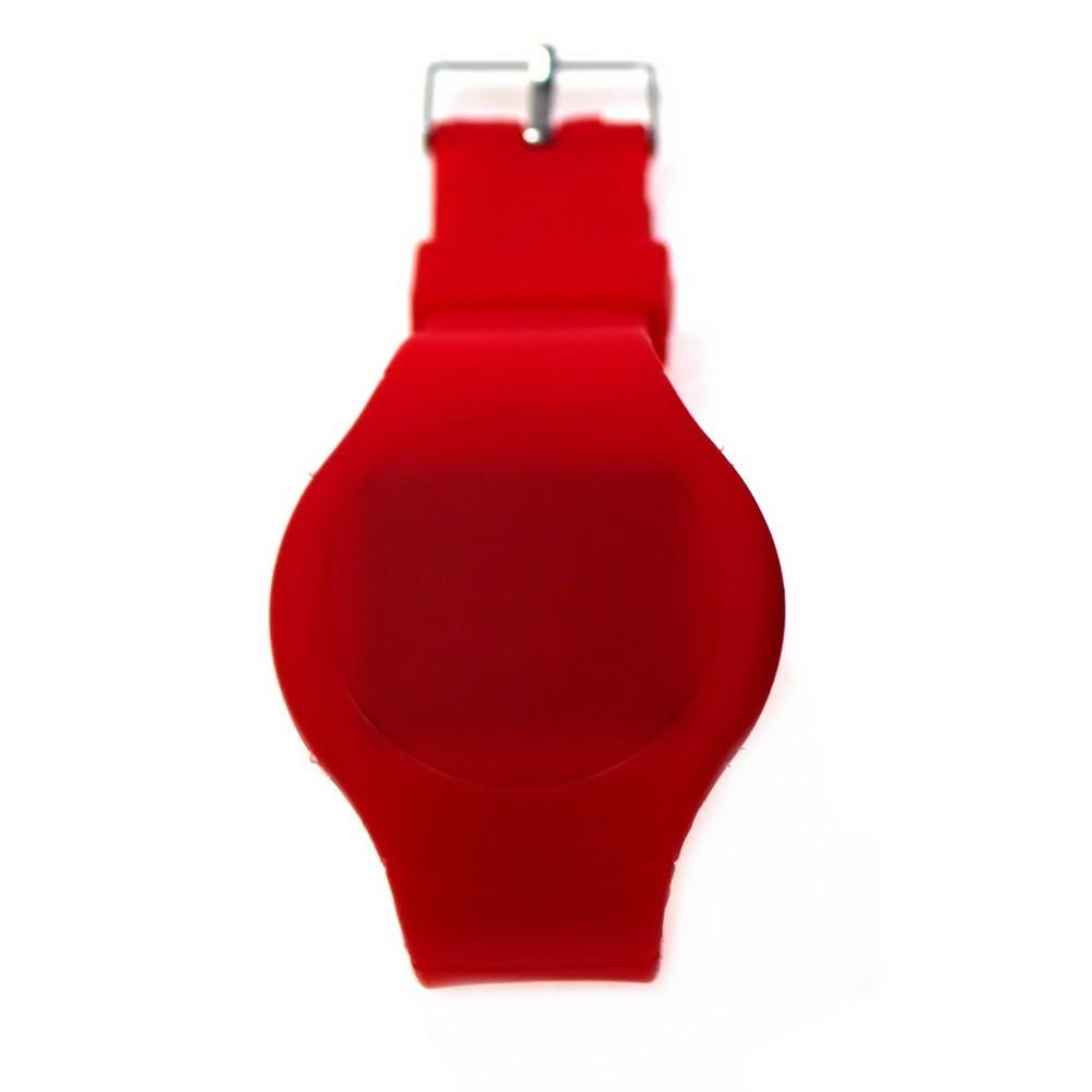 Ультратонкие силиконовые LED часы Nexer круглые, красные