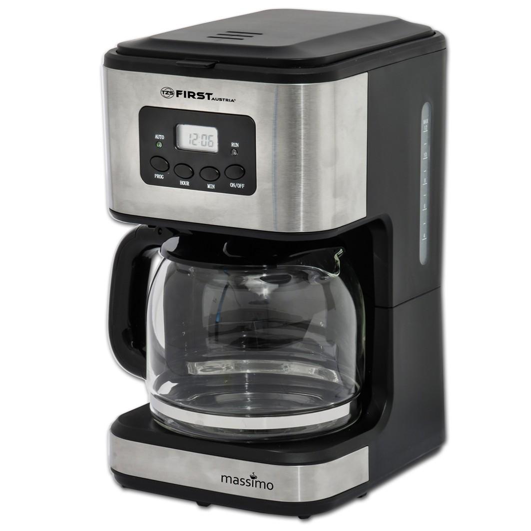 Кофеварка FIRST 5459-4 FA-5459-4 GreyКофеварки и кофемашины<br>Кофеварка First FA-5459-4 обладает достаточной мощностью для приготовления 1,2 литра кофе в считанные минуты. Модель обладает удобным LCD дисплеем, который дает возможность следить за выставленными настройками и степенью приготовления напитка.<br>