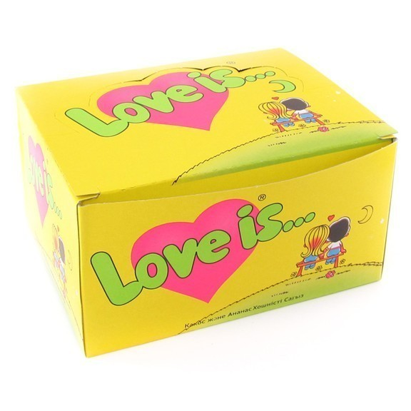 Жвачка Love is — кокос-ананас (блок 100 шт)