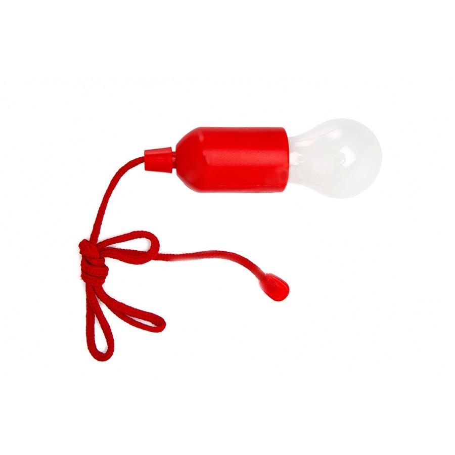 Светильник светодиодный Лампочка на шнурке, цвет красный