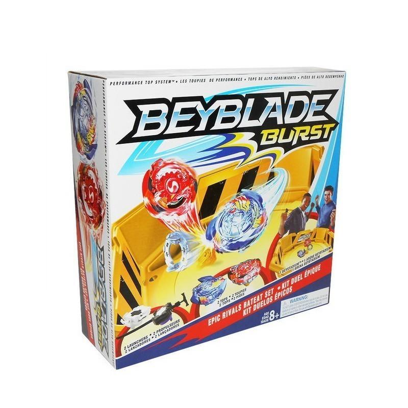 Beyblade 2 волчка, ручка, глубокая арена, Игрушки для мальчиков  - купить со скидкой