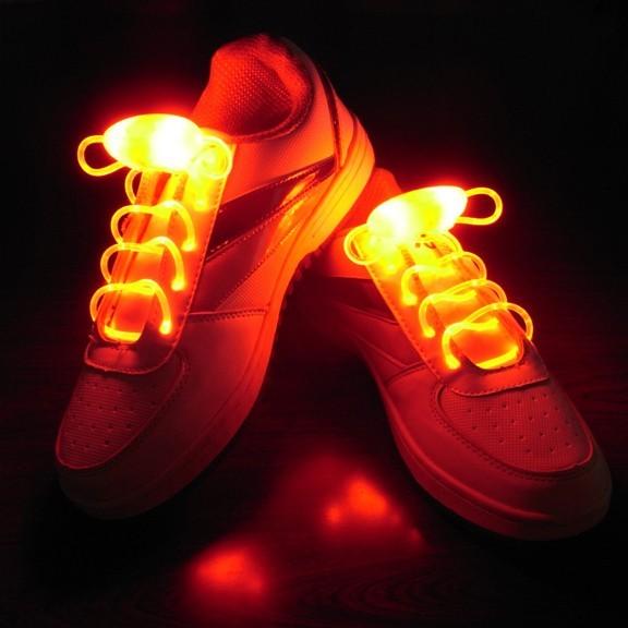 Шнурки с LED подсветкой (цвет оранжевый)