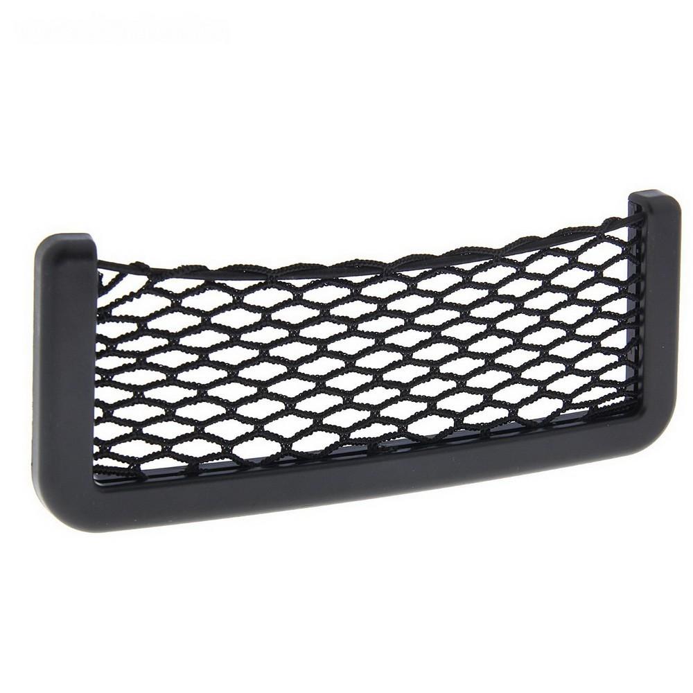 Карман-сетка под телефон Torso, на клейкой ленте, 19 х 8 см, чёрный