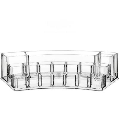 Акриловый органайзер для косметики Multi-Functional Storage Box QFY-3129, прозрачный