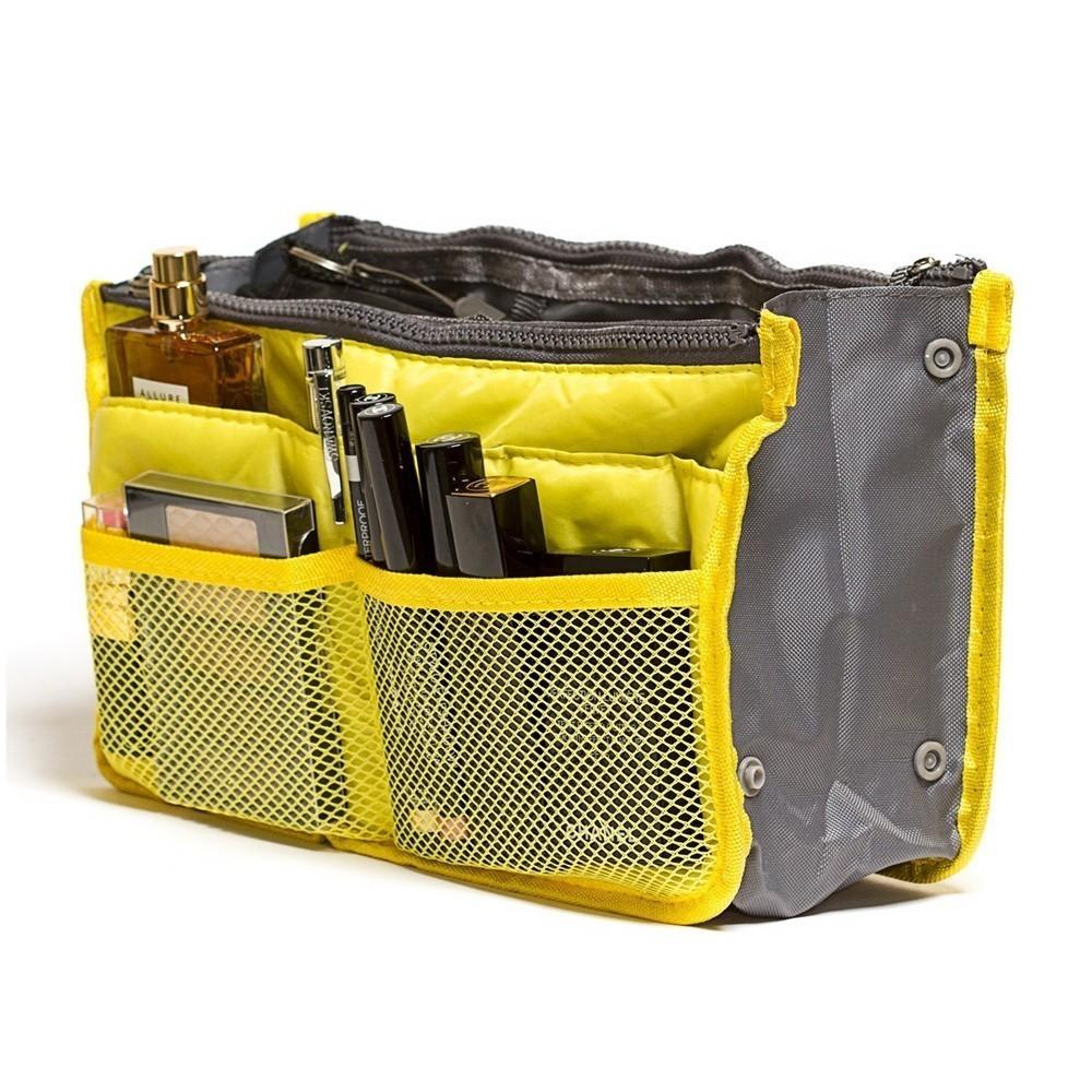 Органайзер для сумки «Быстрая замена» желтаяКосметички<br>Практически каждой женщине знакома ситуация, когда даже в маленькой сумочке невозможно найти ключи, помаду или другое необходимое устройство. Если вы устали от утомительных поисков, то просто посмотрите органайзер для сумки «Быстрая замена».<br>