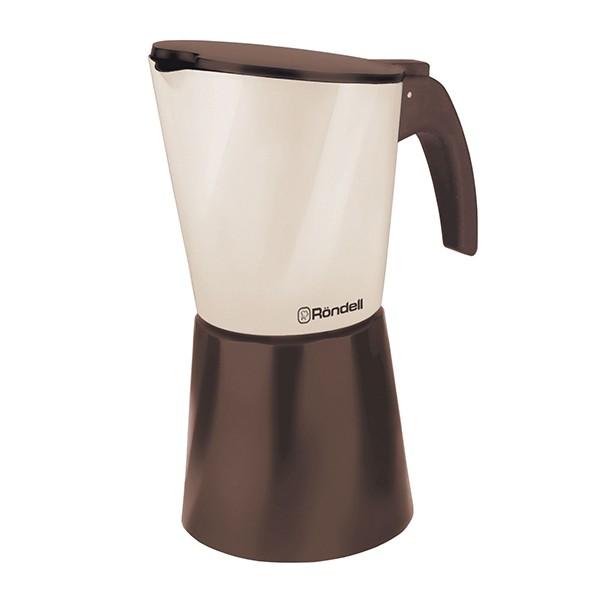 Гейзерная кофеварка 6 чашек Mocco &amp; Latte 738-RDAКофеварки и кофемашины<br>Кофеварка гейзерная Rondell Mocco&amp;Latte RDA-738 - отличный инструмент для приготовления вкусного и ароматного кофе.<br>