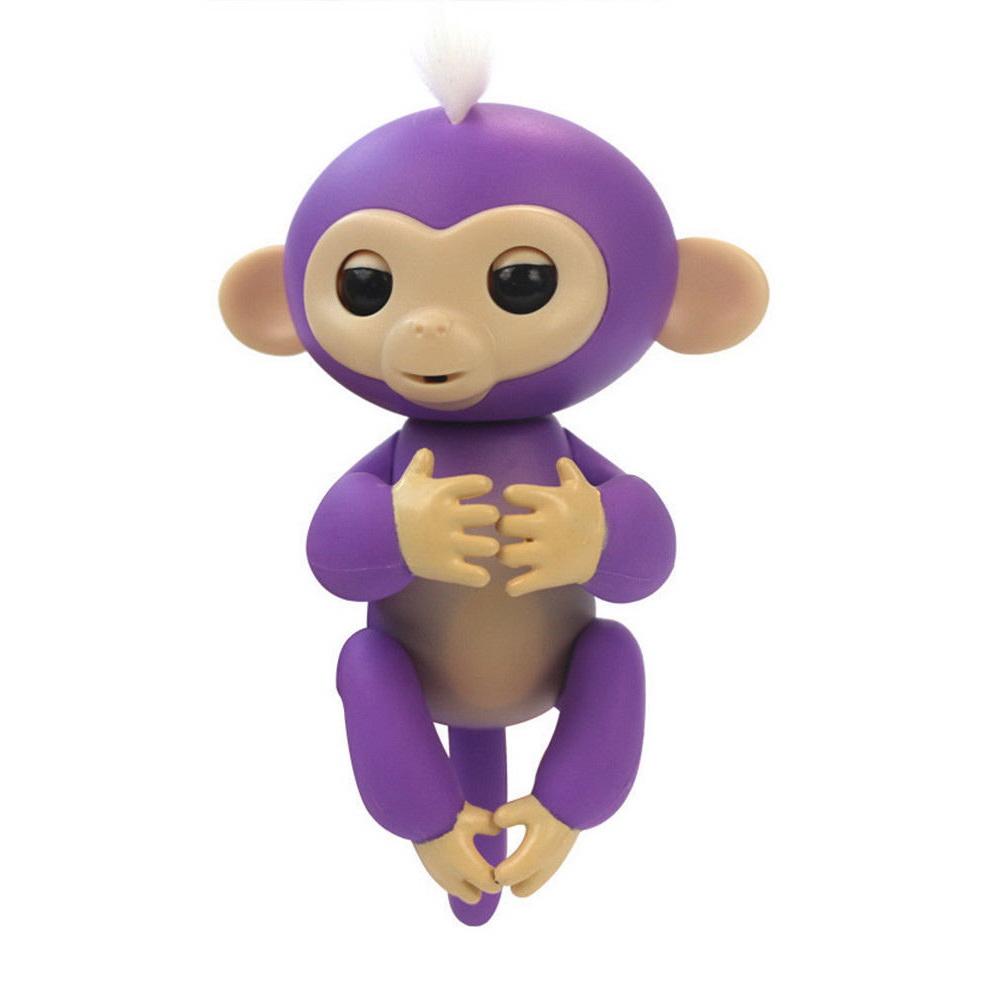 Купить Интерактивная обезьянка Fingerlings Baby Monkey, Фиолетовый, Электронные игрушки