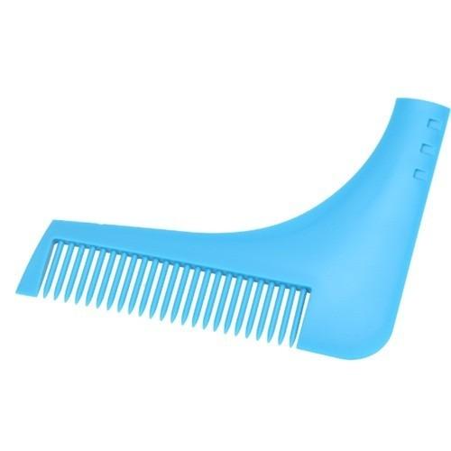 Расческа - шаблон для бритья бороды, синяяРасчески<br>Как обеспечить своей бороде идеальную форму без помощи специалистов из салоны красоты? Вам поможет компактная и простая в использования расческа - шаблон для бритья бороды!<br>