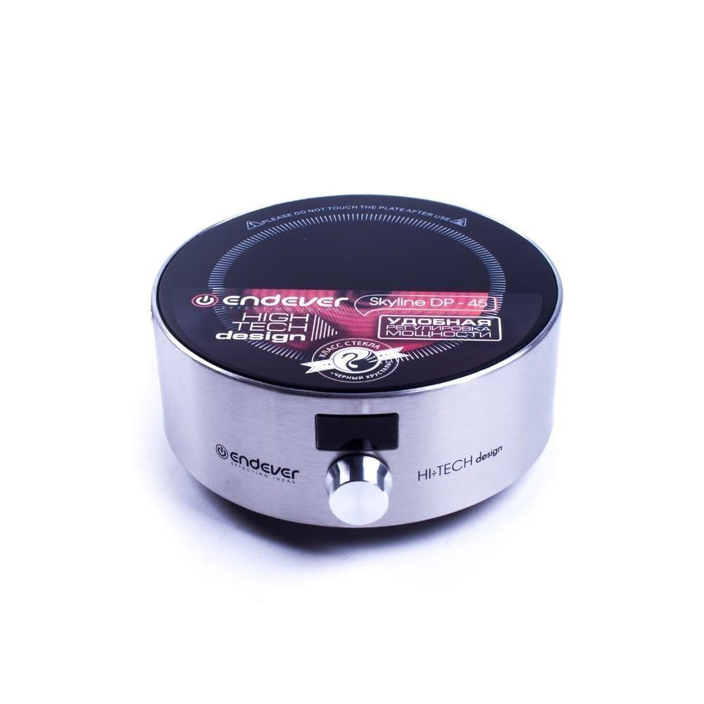 Плитка электрическая со стеклокерамической поверхностью Endever Skyline DP-45Электроплитки<br>Плитка электрическая Endever Skyline DP-45 может похвастаться наличием функционального дисплея, на котором отображаются заданные параметры работы устройства. В этой домашней помощнице предусмотрена одна конфорка с высокой мощностью нагрева, благодаря чему вам не придется подолгу ждать, пока приготовятся различные блюда или закипит вода.<br>