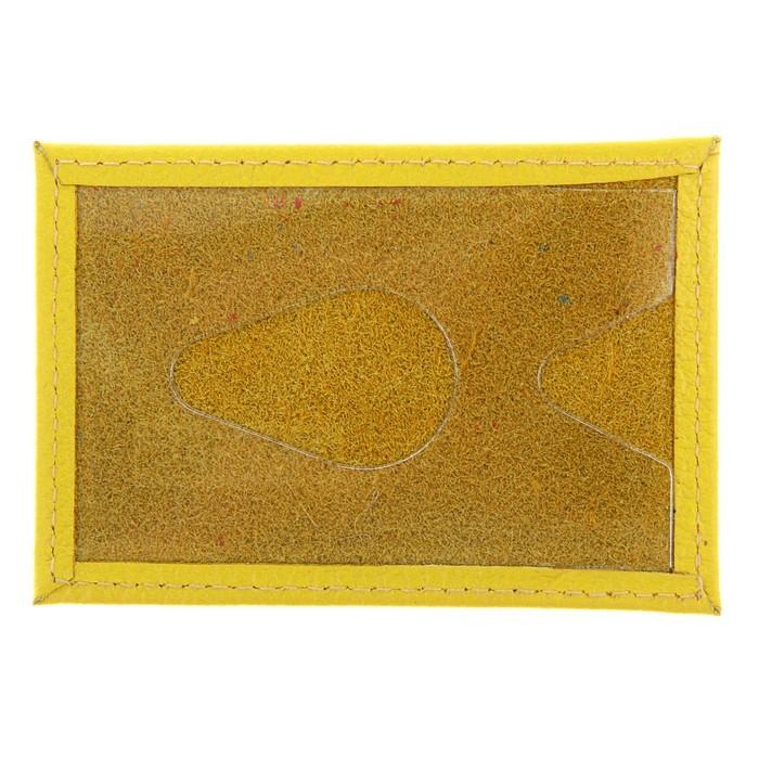 Футляр для банковской карты, кожа - жёлтый флотер от MELEON