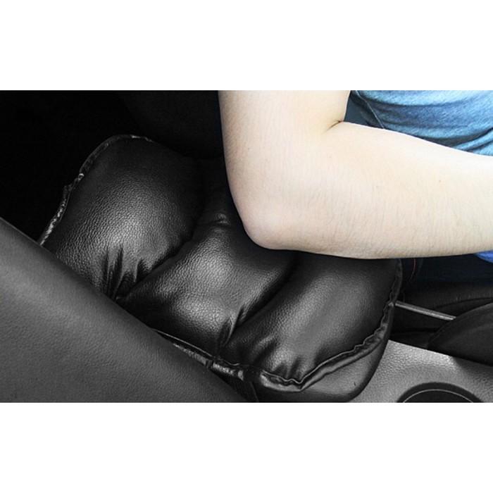 Подушка на подлокотник, экокожа, черный