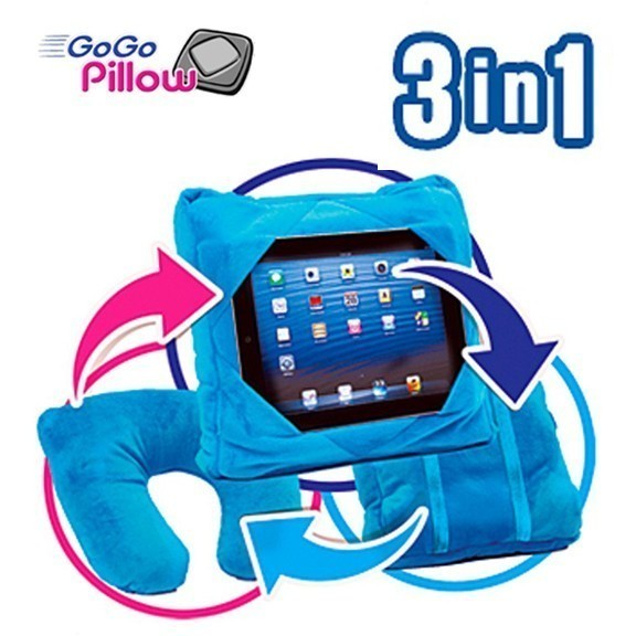 Подушка-подставка 3 в 1 - GoGo Pillow (Гоу Гоу Пиллоу)Остальные гаджеты<br>Современный мир очень сложно представить без всевозможных гаджетов. Теперь вы сможете выполнять сразу несколько дел, поскольку освободите свои руки от планшета, благодаря революционной подушке-подставке 3 в 1 GoGo Pillow (Гоу Гоу Пиллоу)!<br>