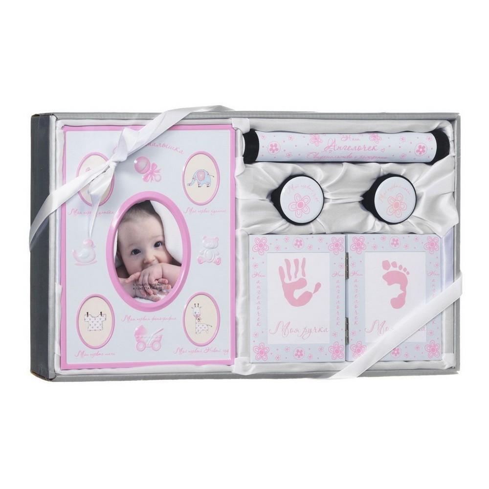Набор подарочный для новорождённого - Моя малышкаТовары для новорожденных<br>В вашей семье счастье, поскольку появилась малышка? Ваша подруга вот-вот родит дочурку? Это событие является самым важным в жизни каждого человека, потому хочется запомнить все моменты. Подарочный набор для новорожденного «Моя малышка» создан именно для таких целей!