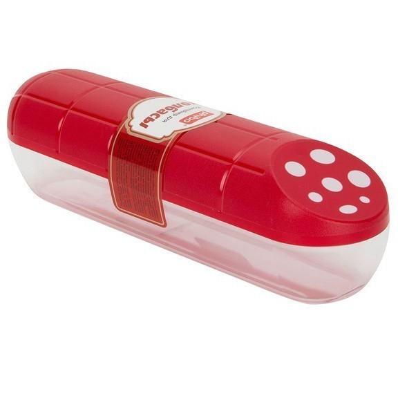 Контейнер для колбасы PhiboПрочее для хранения продуктов<br>Времена, когда все продукты Вы небрежно хранили в кульках в холодильнике проходят. Теперь аппетит будут нагонять красивые и яркие приспособления, которые будут смотреть на Вас с полок. Одним из таких приспособлений, которое точно заслуживает внимания, является контейнер для колбасы Phibo.<br>